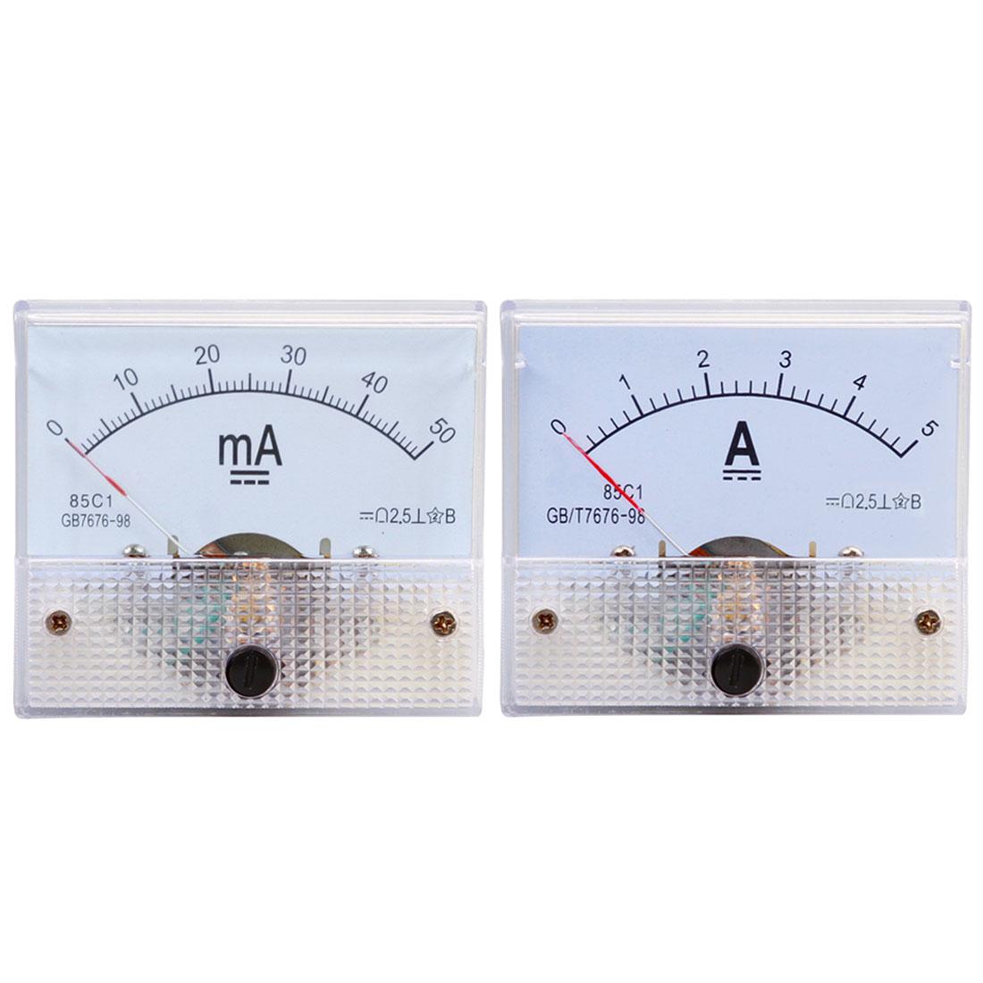 DC Pointer Current Meter 5A/10A/15A/20A/30A/50A/75A/100A Analog Ammeter Panel Current Meter Gauge l4969urd automotive computer board