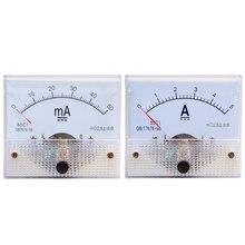 Misuratore di corrente puntatore cc 5A/10A/15A/20A/30A/50A/75A/100A misuratore di corrente pannello amperometro analogico