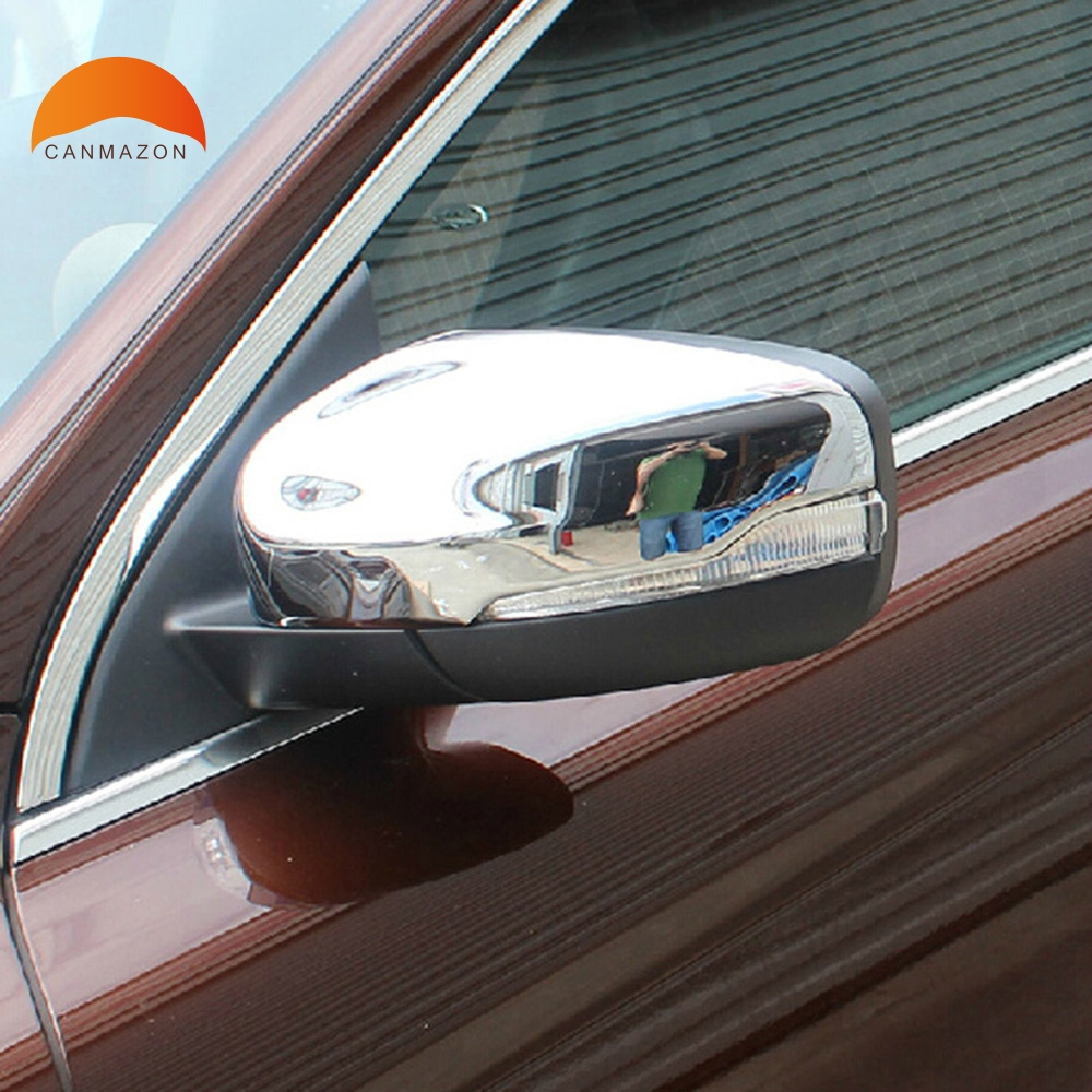 цена на For Volvo XC60 2014 2015 ABS Chrome Outer Side Door Rearview Mirror Protector Cover Trim Car Back Mirrors Side Mirror Cover 4pcs