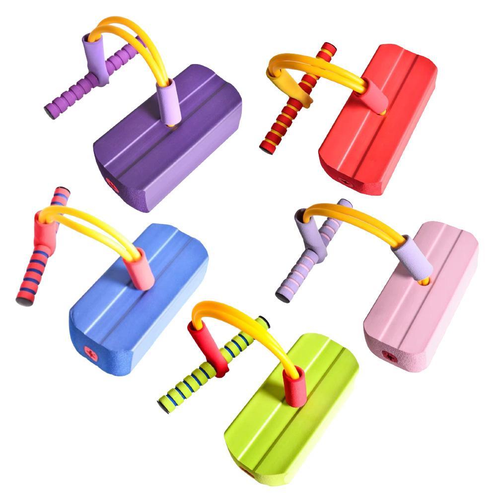 Kids Children Educational Safe Fun Game Toy Foam Pogo Jumper Exercising Stick  Outdoor Sport Training Balance Gift