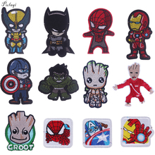 Pulaqi The Avengers Patch Sewing Iron On Patches Clothes Embroidered For Star Wars T-Shirt Decor F