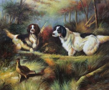 Handpainted Animal Oil Painting October in the Forest by Arthur Fitzwilliam Tait Landscape Canvas Art Wall Decoration
