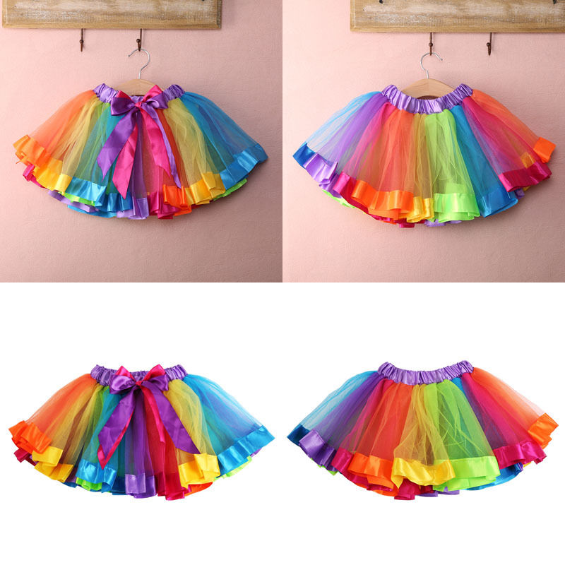 Baby Girl Pettiskirt Tutu Skirt Kids Fluffy Ballet Petticoat Underskirt Slips UK