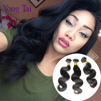 6A unprocessed Peruvian virgin hair body wave human hair 4pcs wholesale 8-30inches yongtai hair extensions Peruvian body wave