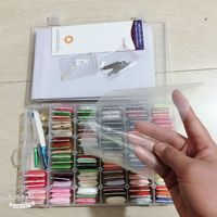 oneroom 96pcs Embroidery Floss Cross Stitch Thread Kit with Threader Bobbins Sewing Needles Storage Box Embroidery Starter Kit