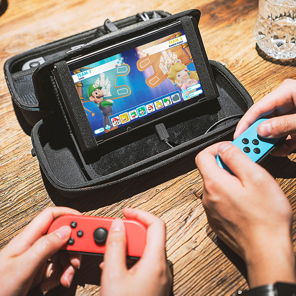 2018 New EVA Hard Bag Storage Travel Carry Pouch Cover for Nintendo Switch for NS Nintend Switch Gamepad Protective Bracket Box eva hard bag storage travel carry pouch cover for nintendo switch for ns nintend switch protective case black blue