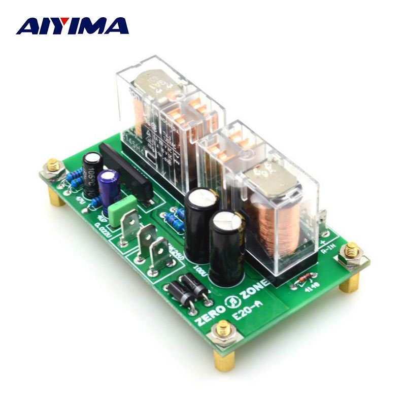 AIYIMA Audio Portable Speaker Protection Board E20-A-C1237 AC24V Double Parallel Omron Relay DIY For Home Theater