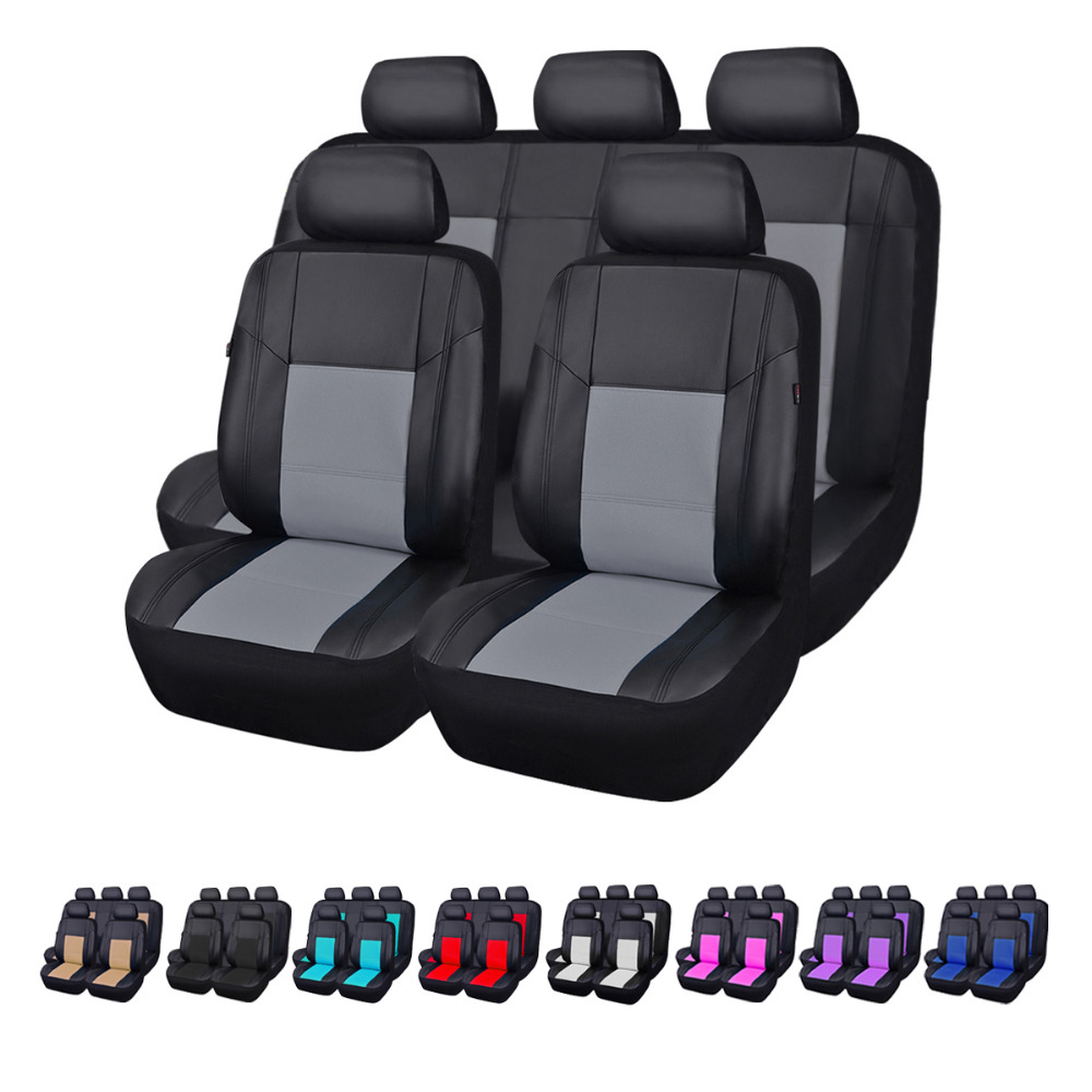Car pass Universal Leather Car Seat Cover For Suzuki Jimny Ignis Alto Swift Liana Grand Vitara