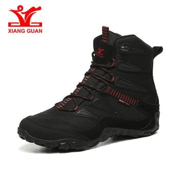 XIANG GUAN Hiking Shoes Men Outdoor Camping Winter Boots Waterproof Snow Shoes Climbing Mountain Trekking Sneakers New Arrival