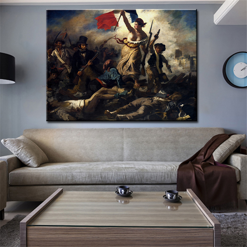 Eugene delacroix la liberte guidant le peuple wall picture for 12x16 living room