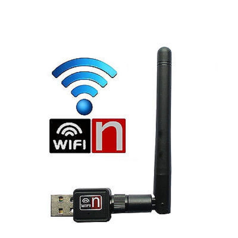 USB Wlan Wifi Wireless LAN Stick Dongle Adapter 300 Mbit 300 Mbps SMA + Antenne N