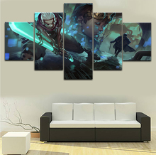 цена 5 Pieces Ekko League Of Legends Canvas HD Print Painting Modern Home Decorative Bedroom Modular Framework Wall Art Game Poster онлайн в 2017 году