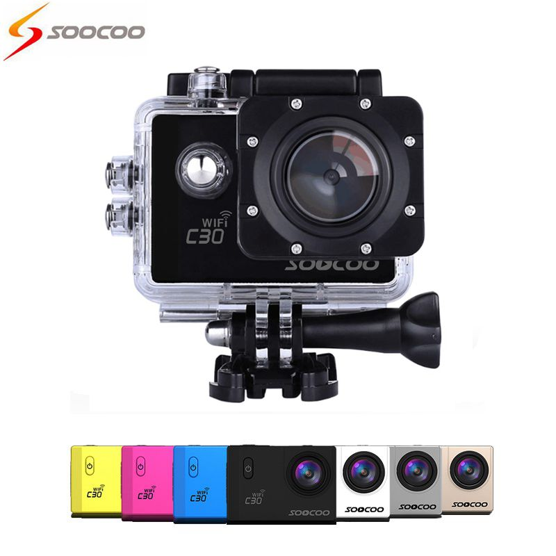 HOT SOOCOO C30 Wifi 4K Gyro Adjustable Viewing angles(70-170 Degrees) 2.0 LCD NTK96660 Diving 30M Waterproof Action Sport Camera soocoo c30 sports action camera wifi 4k gyro 2 0 lcd ntk96660 30m waterproof adjustable viewing angles