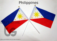Philippines  free shipping Hand waving Flag  10pcs/set National Flag  Philippines  14*21 cm