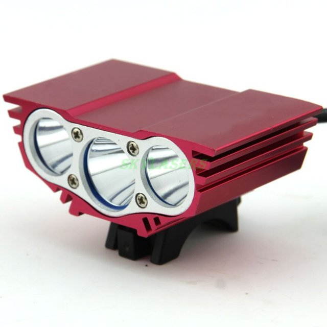 5000 Люмен Красный 3 Х XML U2 СВЕТОДИОДОВ Передней Велосипедов Света Велоспорт Велосипед Лампы + Аккумулятор и Зарядное Устройство