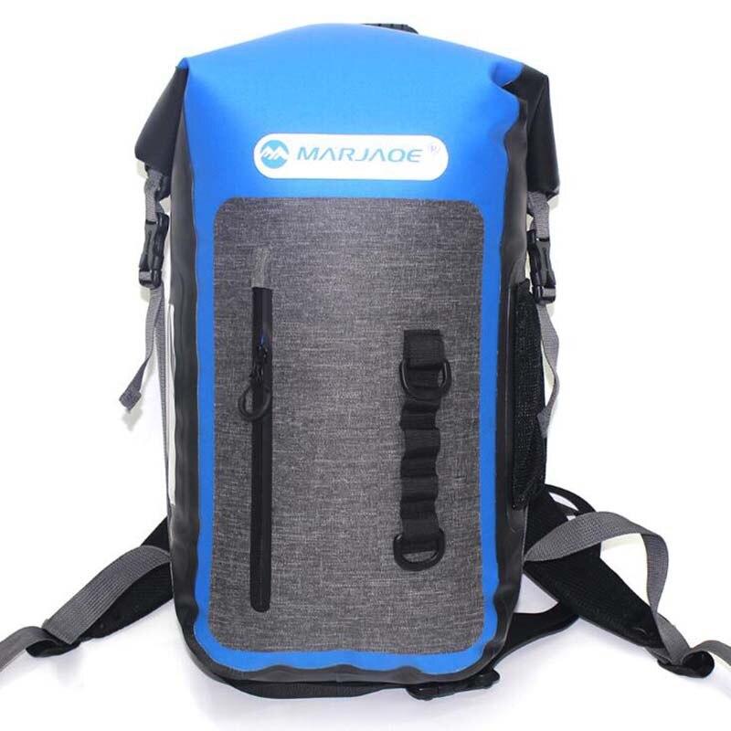 PVC natation sac à dos 25L plongée en plein air pliable stockage entièrement scellé sac étanche sac sec pour homme femmes Rafting Kayak