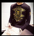 mens plus size long-sleeve t-shirt size m-6xl males casual slim fashion brand t-shirt clothing new