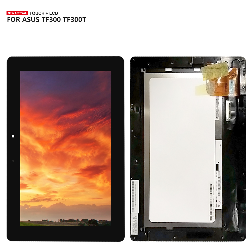 For Asus TF300TG TF300T TF300TL TF300 5158N FPC-1 LCD Display Touch Screen Digitizer Assembly Free Tools Replacement