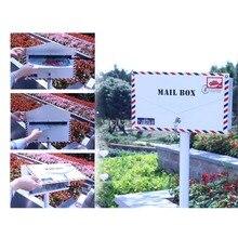Дизайн конверта, безопасная стойка, почтовый ящик, металлический почтовый ящик для улицы, почтовый ящик для сада и парка, безопасная почтовая коробка, почтовый ящик 122 см, высота 1035c