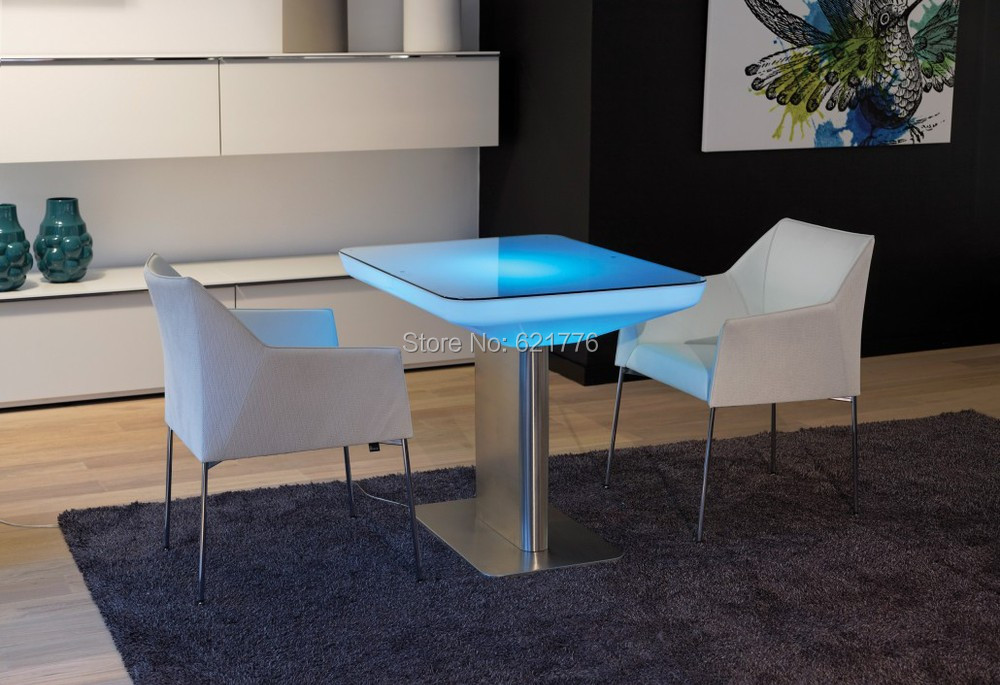 H76 Led Illuminated Furniture Dining table for 4 people,STUDIO LED,led coffee table for bar,meeting room,living room or  events coffee table