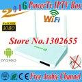 2016 nova caixa PowerTv X1 X6 caixa de IPTV Arábica HD Iptv Android 4.4 caixa de tv Wi-fi tv BN canais iptv canais de esporte kodi africano caixa