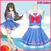 Game OW New D VA Sailor Dress School Girl Uniform Daily Cosplay Costume Animation Hot Sale