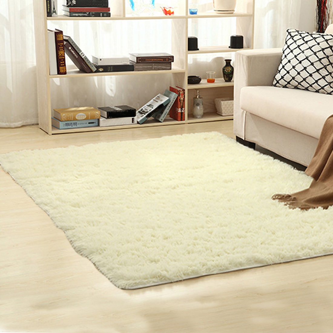80*200cm Long Hair Carpet Bedroom Decorating Soft Floor Carpet Warm ...
