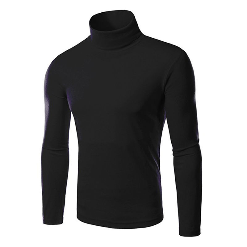 Casual 2017 Men's Thermal High Collar Turtle Neck Skivvy Long Sleeve Sweater Stretch Shirts
