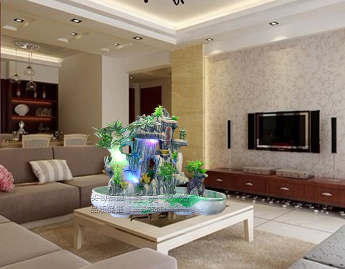 Mountain Stream Waterfall Curtain Of Water In The Resin Fountain Piano Making Money At Home Living Room Town House Corporate Off|curtain Pull|curtain Loopcurtains Blackout - AliExpress