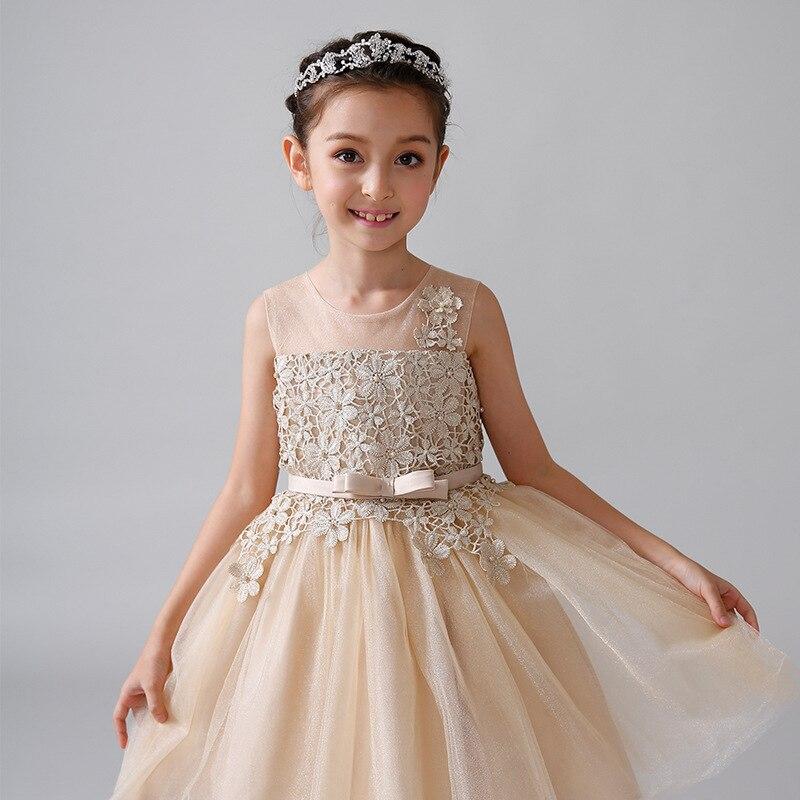 Girls Summer Anniversaire Dress Unicorn Headband Kids Dresses For Girl Birthday Wedding Party Dresses Kids Evening Ball 6+Years