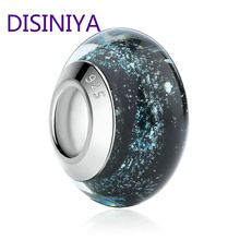 цены DISINIYA  Lily Coloured Silver European Murano Number Glass Adjustable Bracelet and Necklace Fashion Jewelry