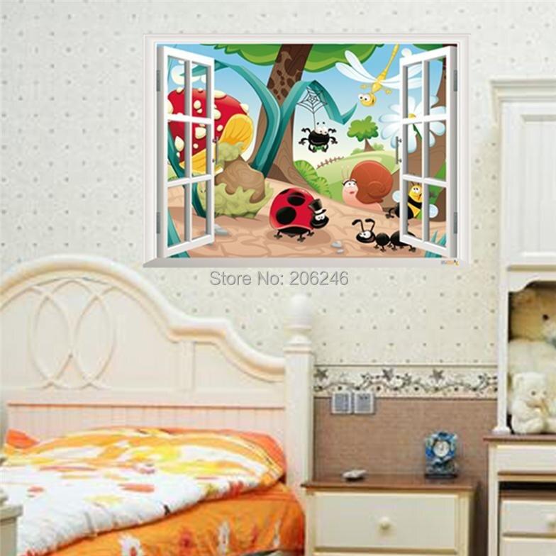 Mermaid Window Wall Sticker Family Nursery Wall Stickers For Kids
