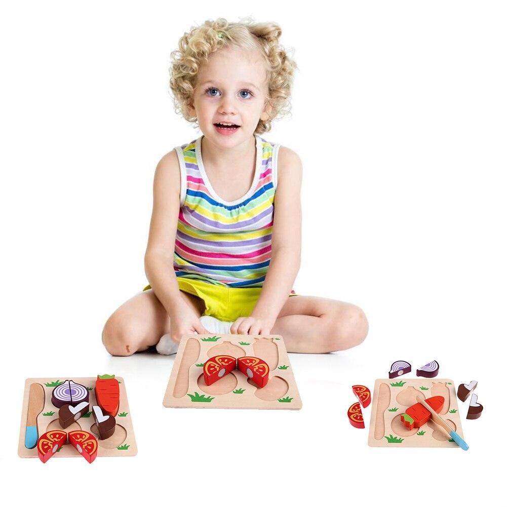 Neue Holz Rettich Gemüse Cut Kinder Kochen Küche Spielzeug Kinder ...