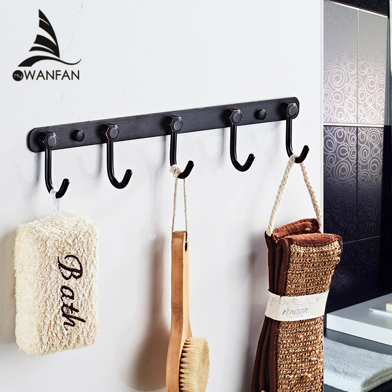Us 19 75 45 Off Robe Hooks Br Towel Clothes Hanger Bathroom Door Wall Mounted Bedroom Accessories Bath Hardware Rack 93028 In