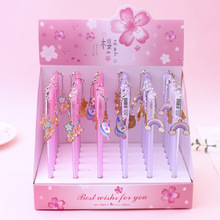 3 pcs/lot Cherry Blossom Simple Rainbow Pendant Gel Pen Ink Promotional Gift Stationery School & Office Supply