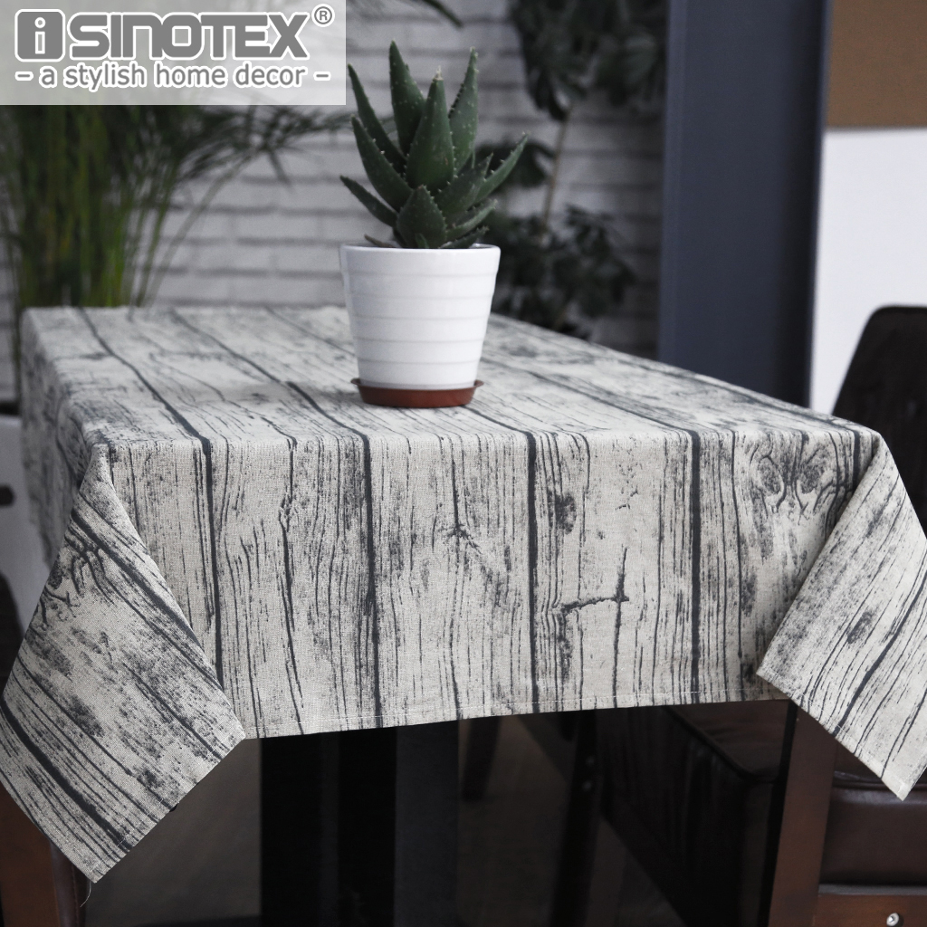 Retro Wood Grain Tablecloth Cotton Linen Fabric Table Cloth Cover Home Decoration for the Kitchen 1PCS/Lot