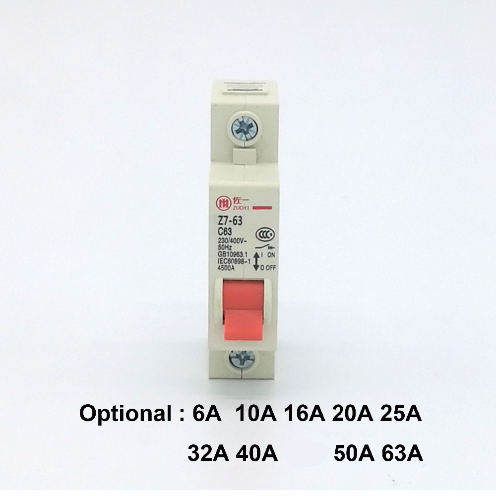 1p 100a 220v Dc Circuit Breaker Mcb Mini For Identification Labels Dz47 6 10 16 20 25 32 40