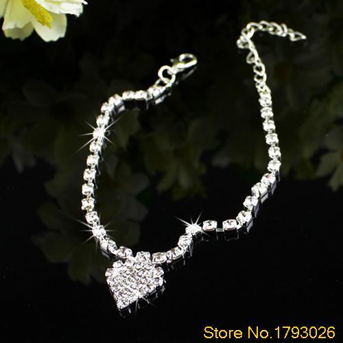 Foot Jewelry Multi pattern Love Heart Wedding Sandal Beach Star Crystal Anklet Chain 4TFN