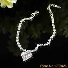 Foot Jewelry Multi-pattern Love Heart Wedding Sandal Beach Star Crystal Anklet Chain  4TFN