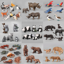 Action&Toy Figure Wildlife Animal Many Set Black Panther PVC Model Collectible Doll Figure Collection For Kid Children Gift Toys(China)