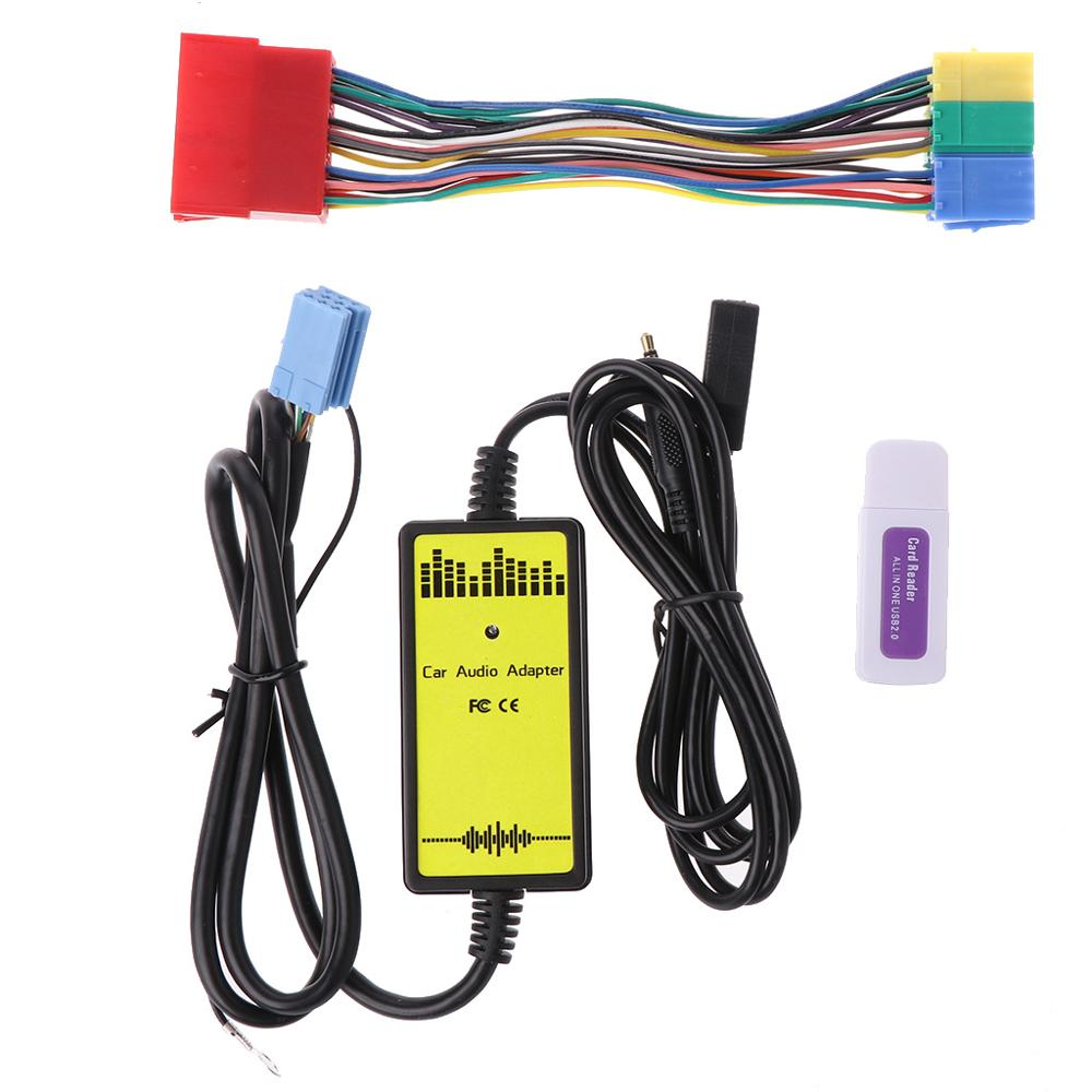 Carro MP3 Music Player Rádio Interface do CD Changer USB SD AUX EM Adaptador Para Audi A2 A4 A6 S6 A8 s8 Com Leitor de Cartão Micro SD