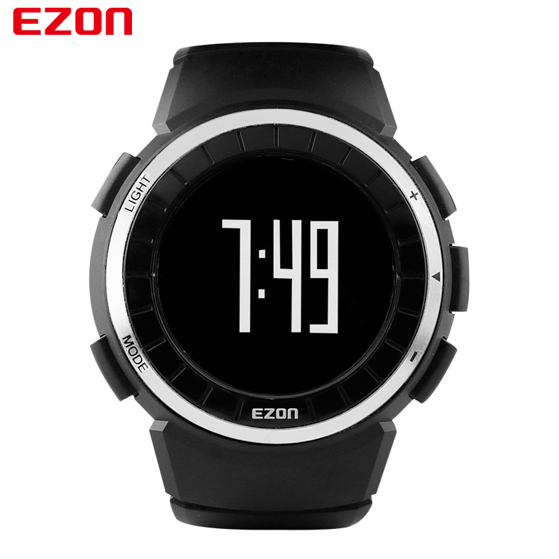 EZON Brand 2017 Men Women Sports Outdoor Waterproof  Running Jogging Fitness Pedometer Calories Counter Digital Watch T029 ezon outdoor sports for smart gps watches running male multifunctional 5atm waterproof electronic watch g1 black