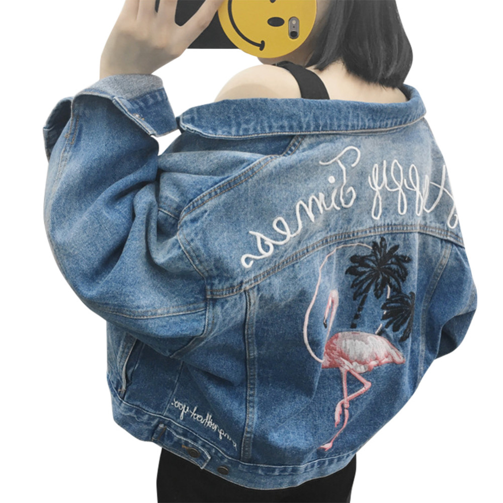 2017 de la moda de primavera chaqueta de mezclilla femenina chaqueta de mezclill