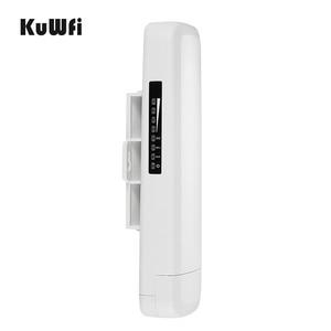 Image 4 - Kuwfi 300 ميغابت في الثانية واي فاي CPE راوتر لاسلكي 3 كجم المدى 2.4G مكرر موسع جسر الوصول نقطة للكاميرا LED عرض خارج