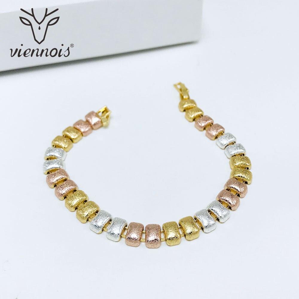 Viennois Bracelet & Bangles For Women Mix Color Matte Bean Chain Bracelet Jewelry
