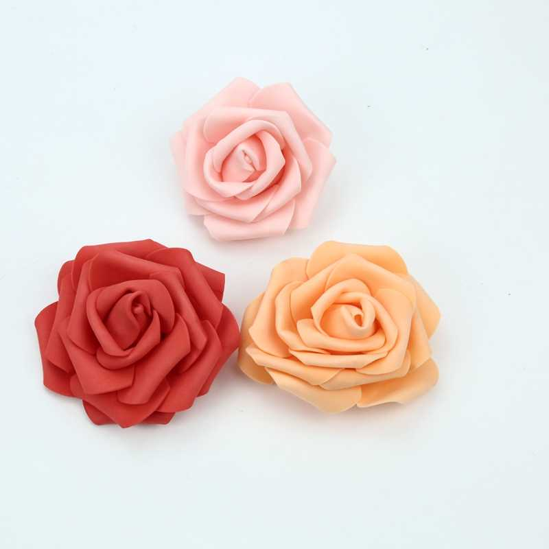 7CM Foam roses flower wall home wedding decoration bridal accessories clearance scrapbooking brooch Handmade artificial flowers