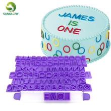 Fondant Cake Decorating Tools DIY 85PCS Plastic Alphabet Letter Symbol Cookie Cutter Number Numeral Message Press Set Mold
