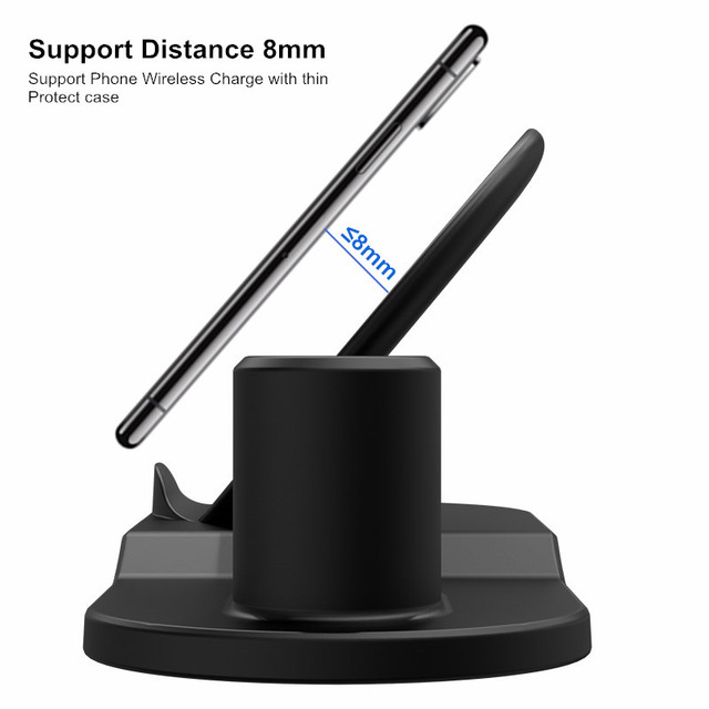 10W Fast 3 in 1 Wireless Charging Station for iPhone, Apple Watch and Airpods
