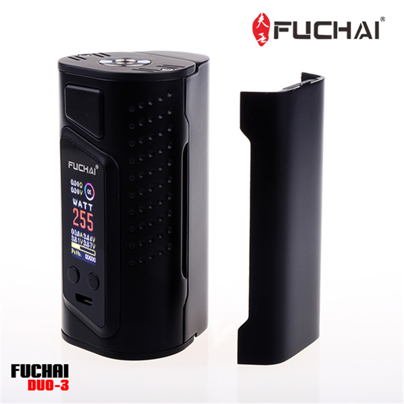 Original Sigelei Fuchai Duo-3 Mod (3 battery-slot version) 255W Temperature Control Eelctronic Cigarette Power by 18650