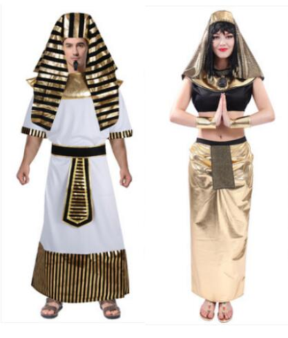 Fancy Dress Egypt Cleopatra Costume Womens Halloween Costume Egyptian Priest Goddess Egypt King Queen Mens Cosplay Costume
